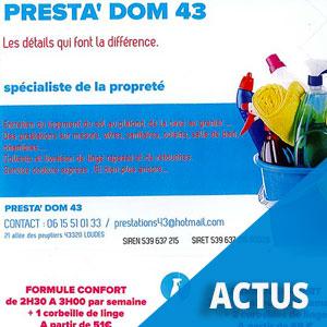 Presta'Dom 43, un nouveau service